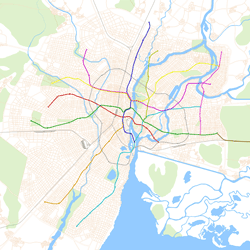 Geographically Accurate Metro Map